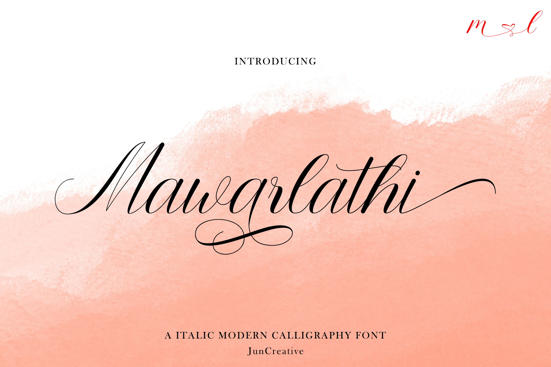 Mawarlathi Modern Calligraphy Font -1
