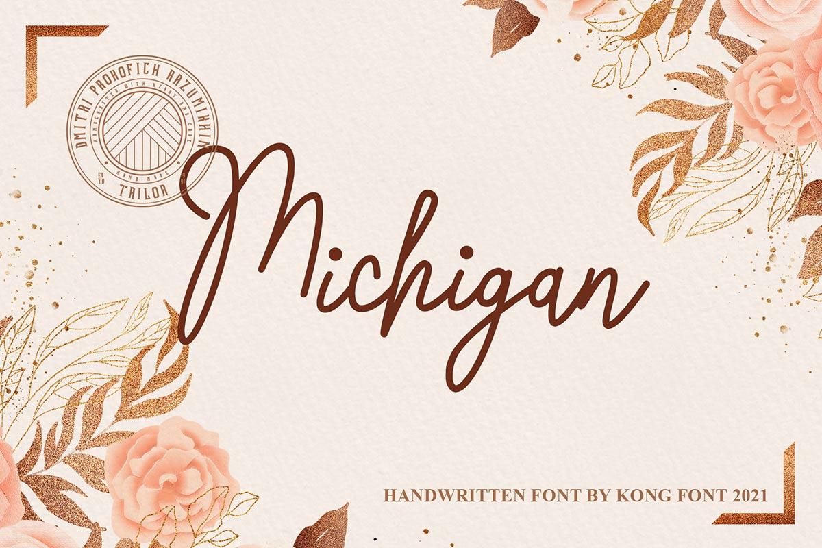 Michigan Handwritten Script Font -1