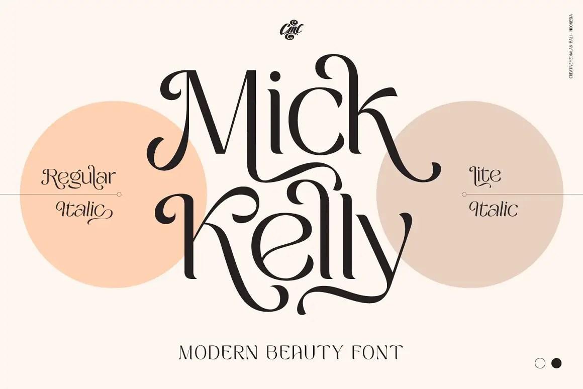 Mick Kelly Modern Beauty Font -1