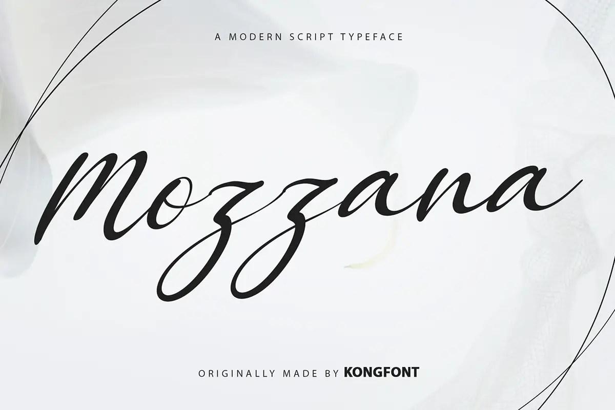 Mozzana Modern Calligraphy Font -1
