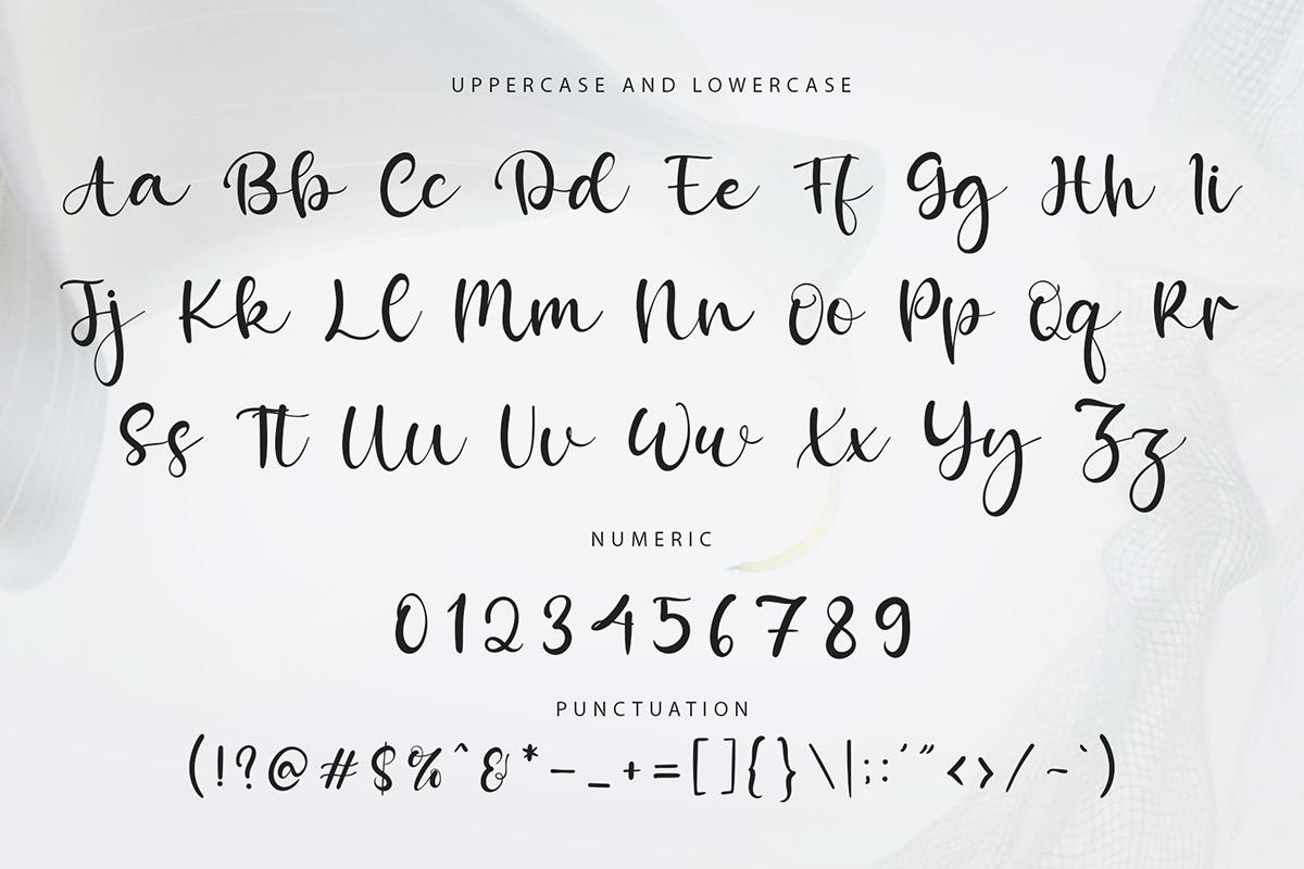Mozzana Modern Calligraphy Font -3