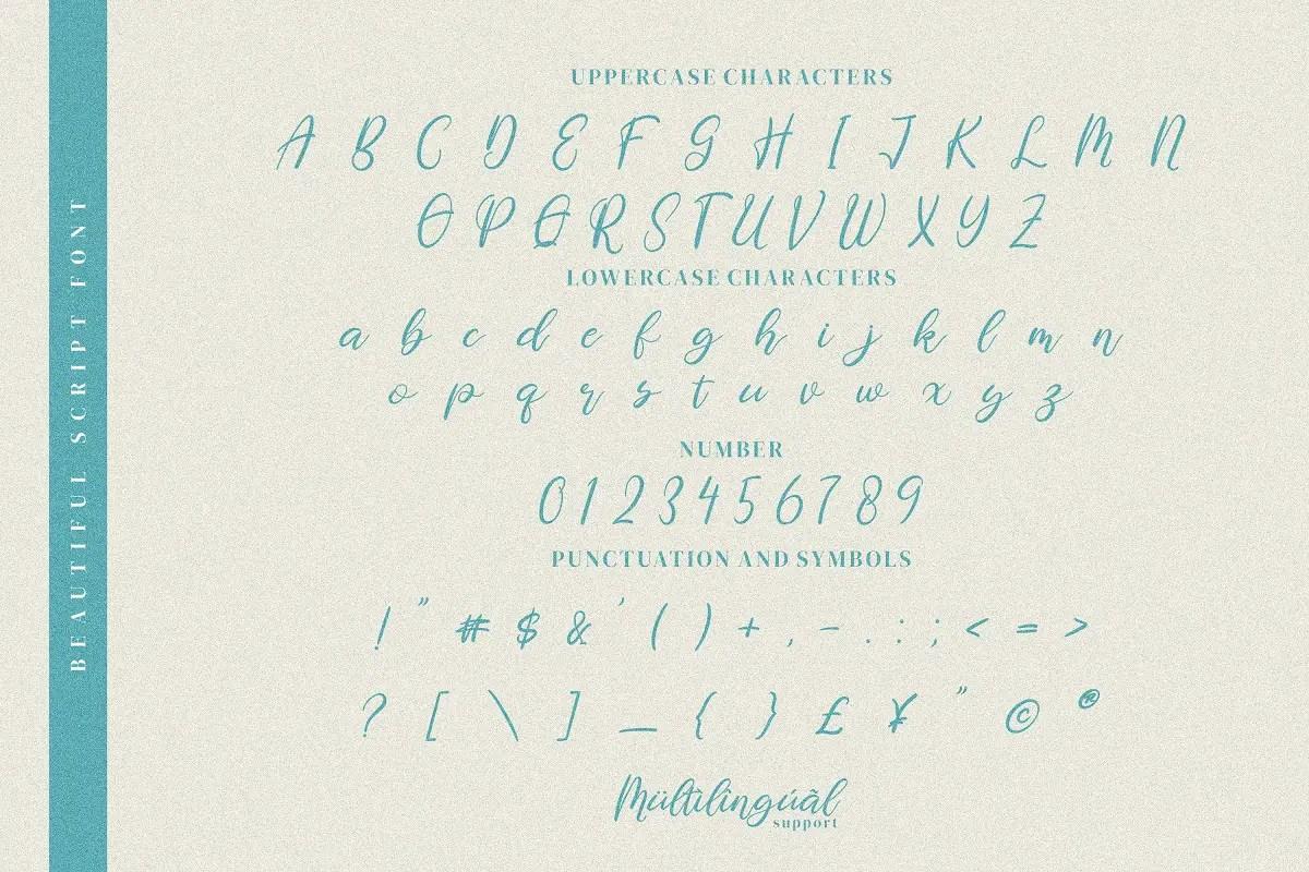 Pettiara Calligraphy Script Font -3