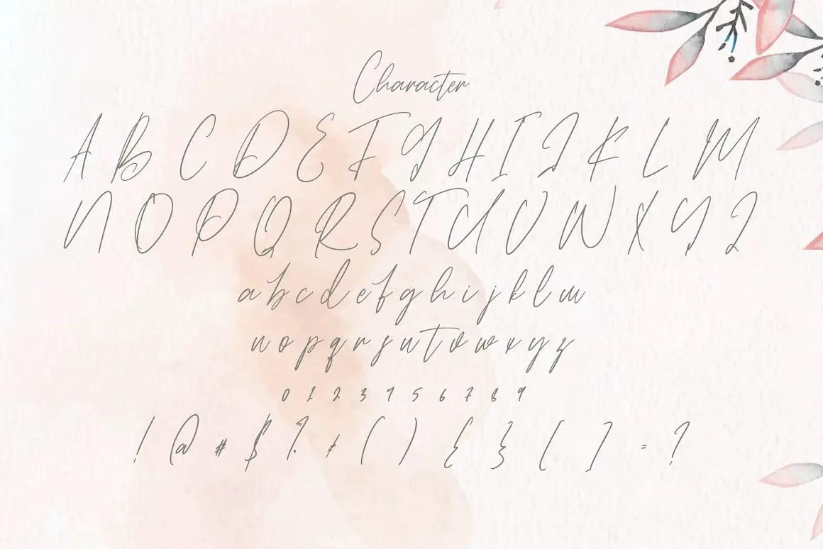 Rattih Putri Script Handwritten Font -3