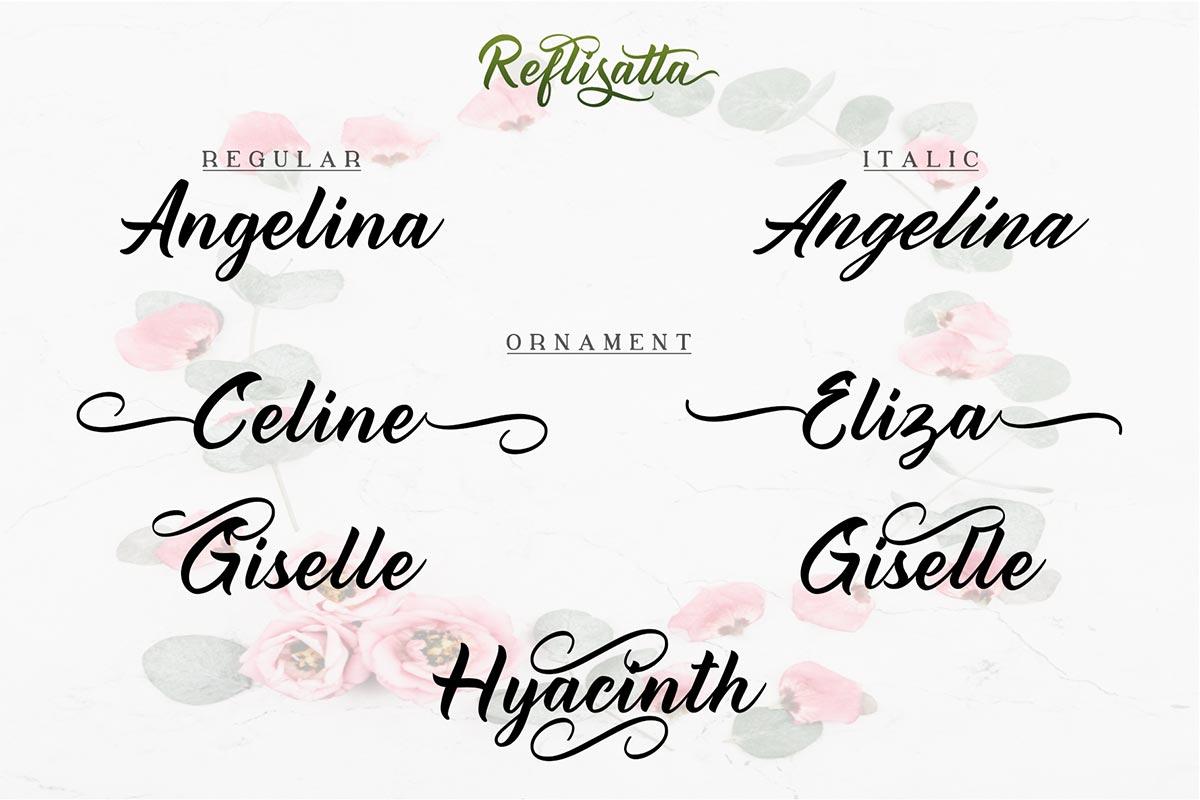 Reflisatta Script Calligraphy Font -2
