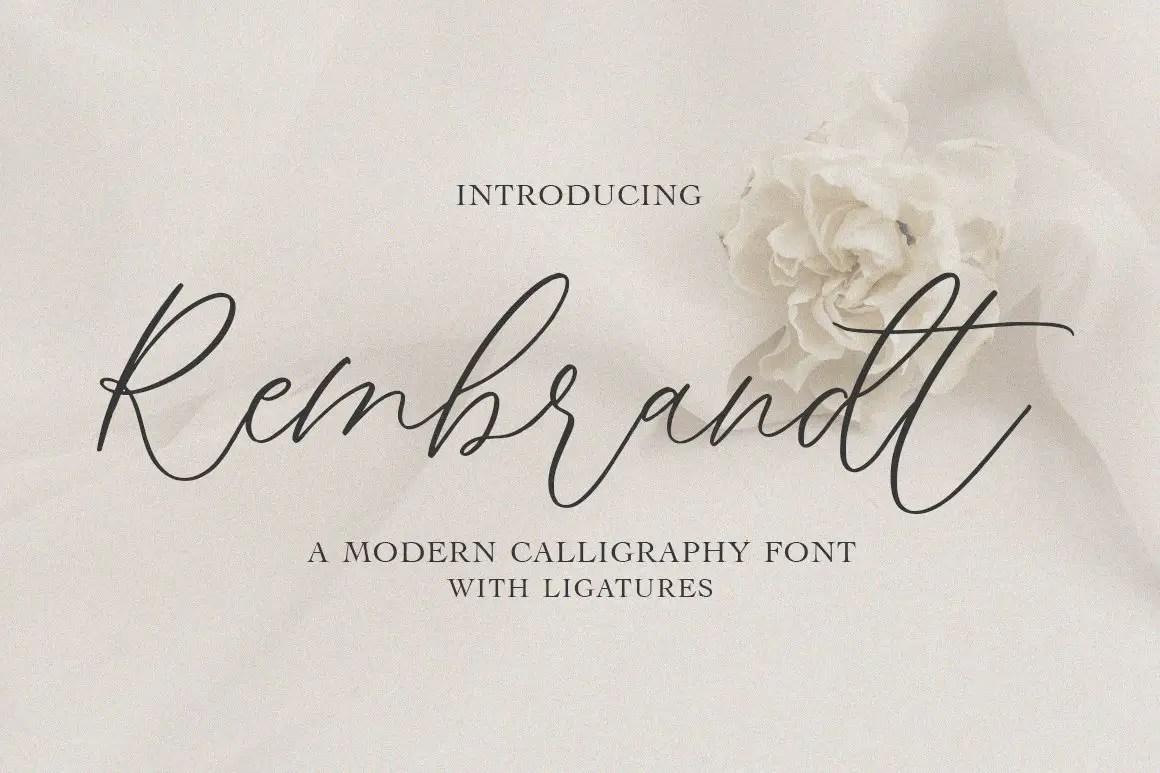 Rembrandt Script Calligraphy Font -1