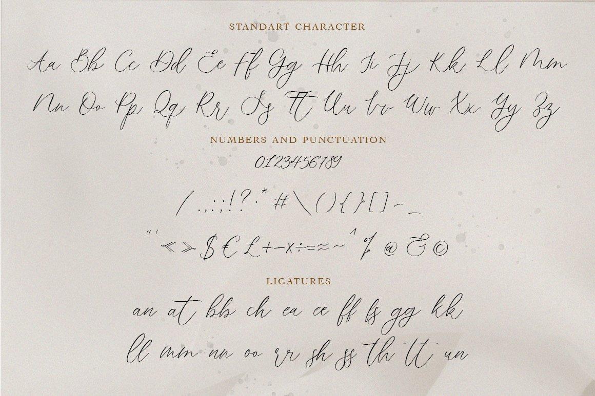 Rembrandt Script Calligraphy Font -3