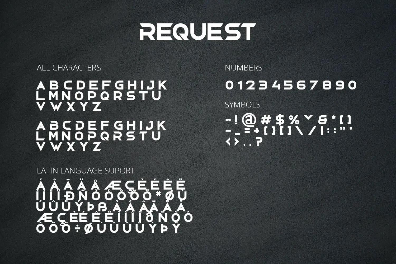 Request Display Font -3