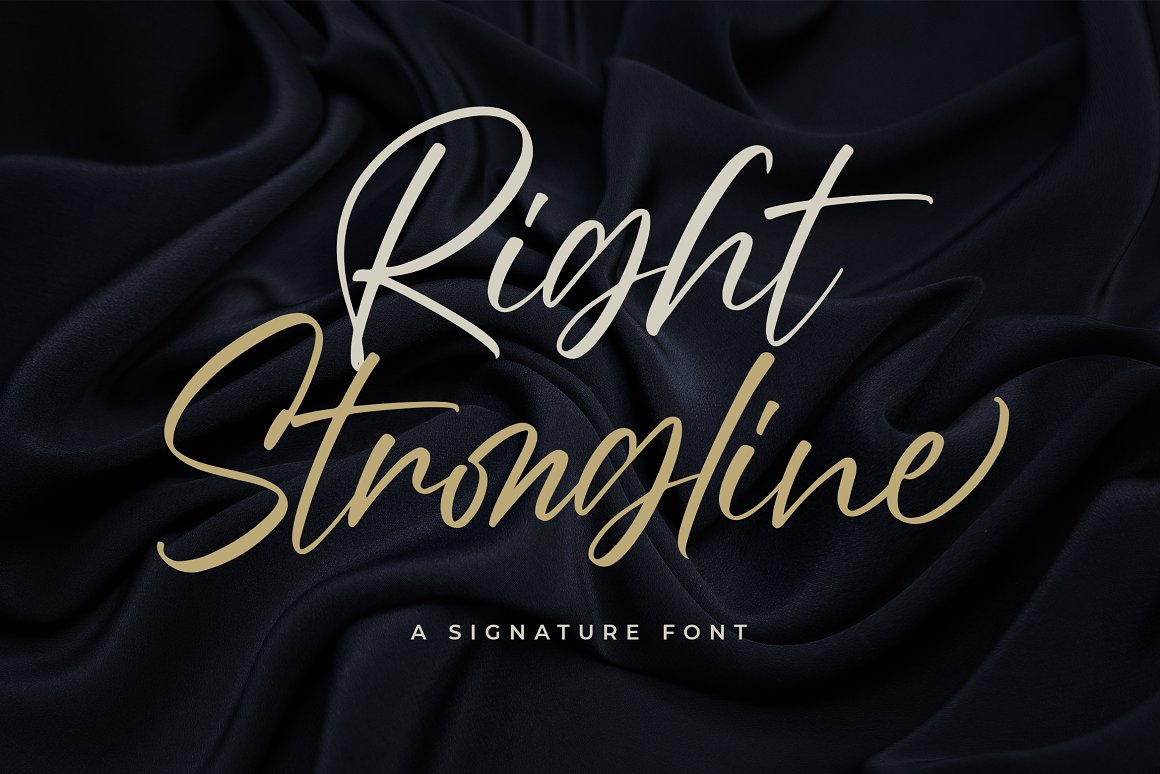 Right Strongline Signature Font -1