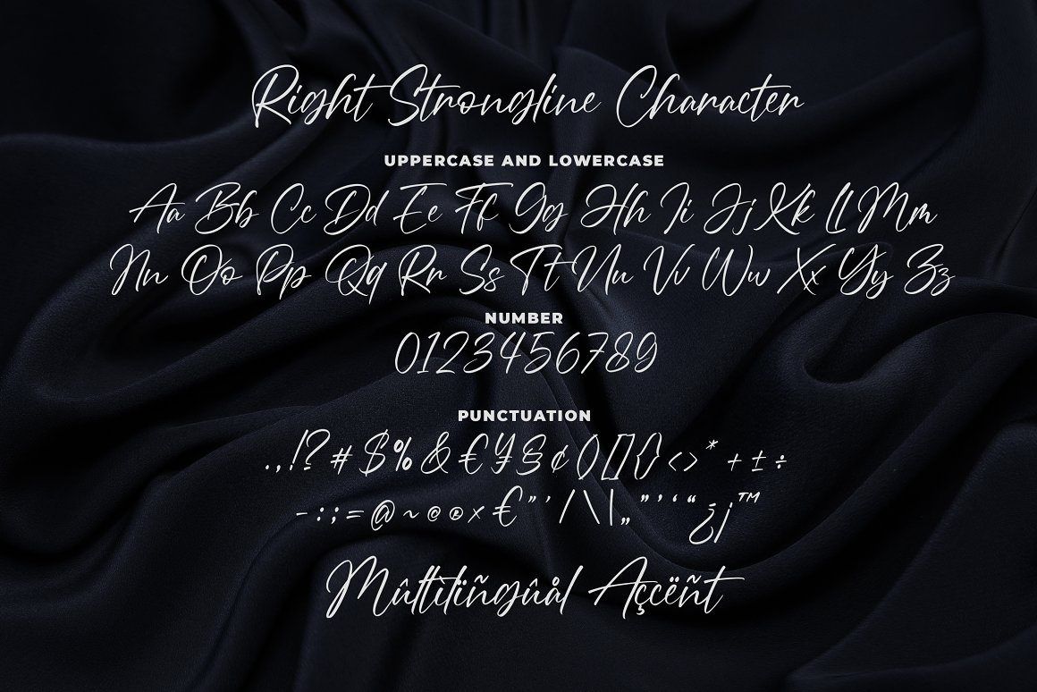 Right Strongline Signature Font -3