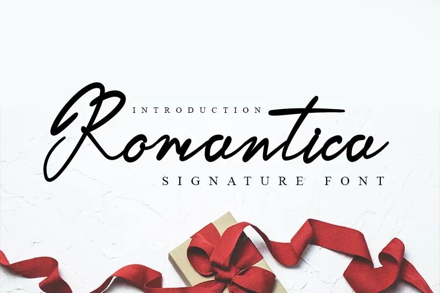 Romantica Beautiful Handwritten Font -1