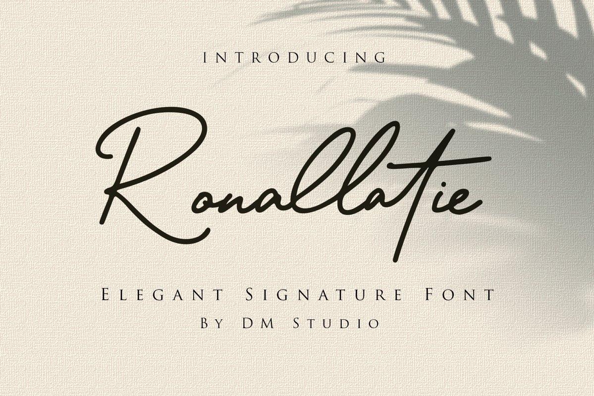 Ronallatie Handwritten Signature Font -1