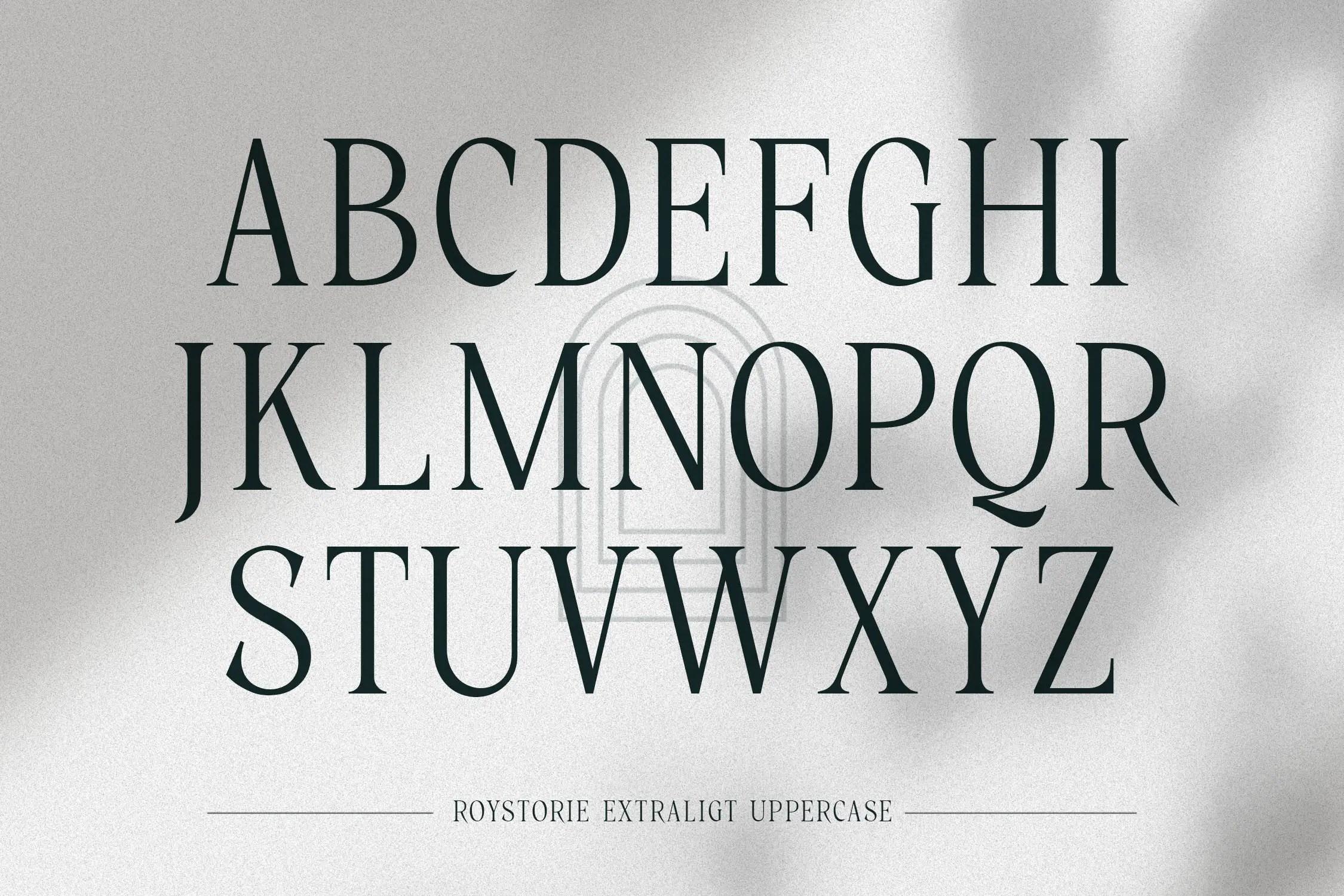 Roystorie Serif Font -3
