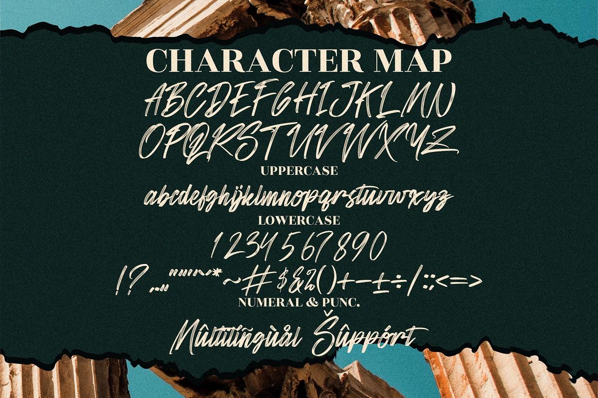 Sandershon Modern Brush Font -3