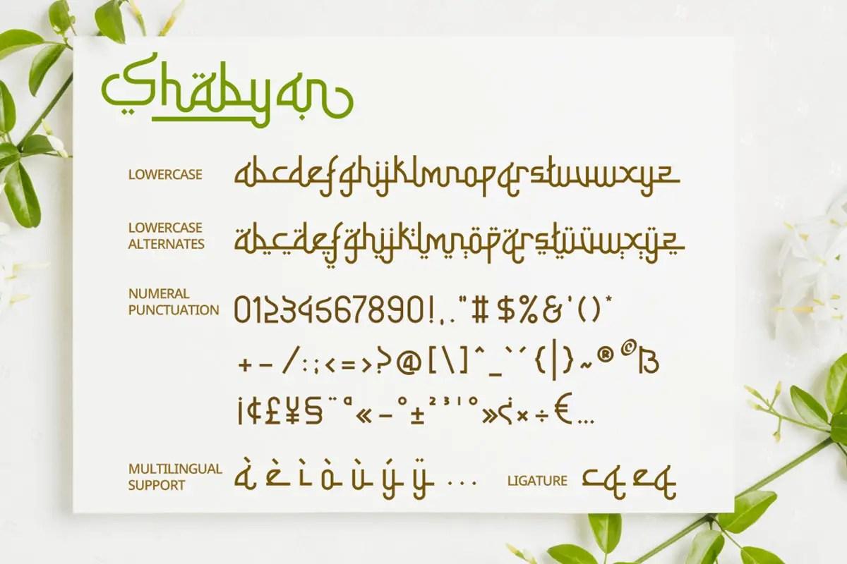 Shabyan Arabic Display Font -3