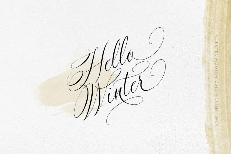 Silenter Modern Calligraphy Font -2