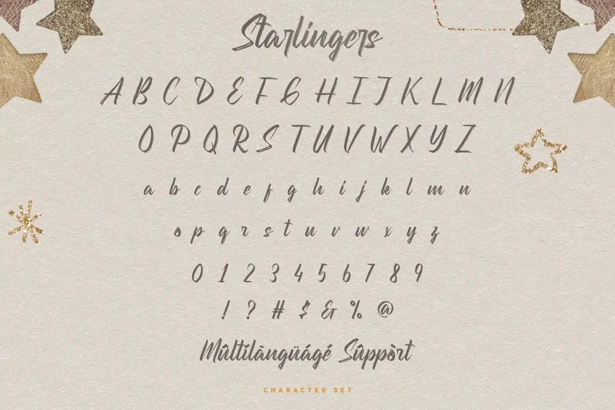 Starlingers Brush Script Font -3