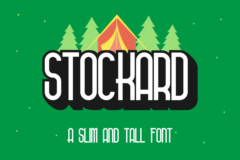 Stockard Condensed Adventure Font -1