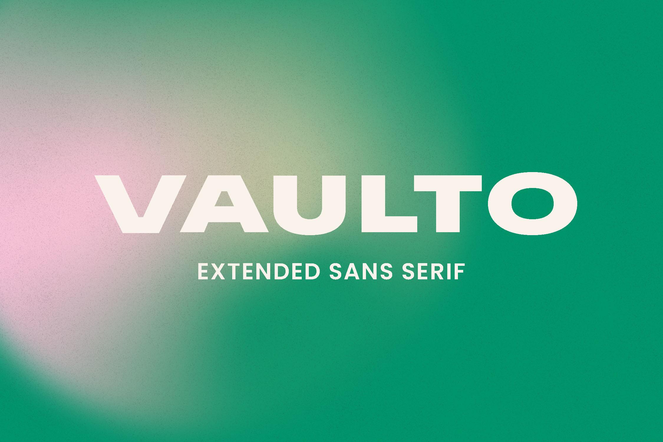 Vaulto Black Sans Serif Font -1