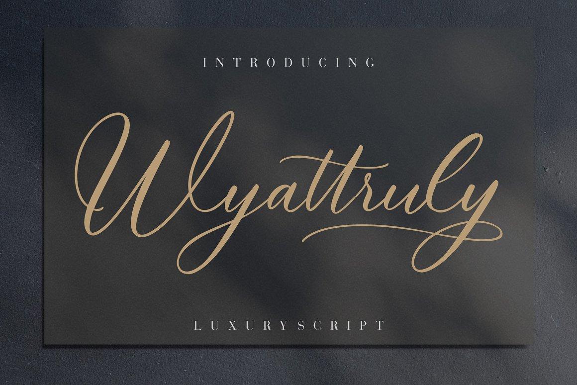 Wyattruly Luxury Script Font -1