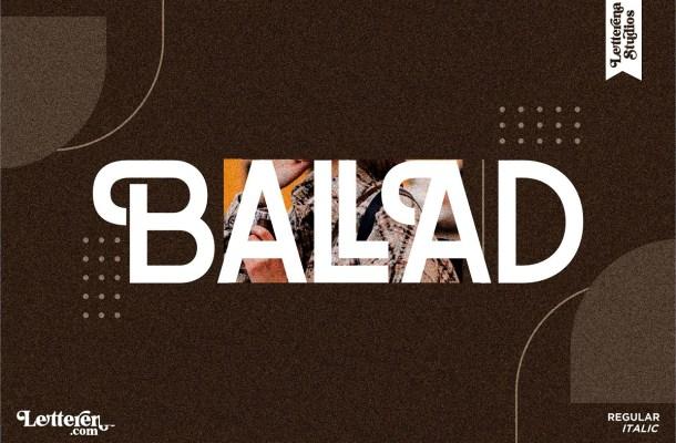 Ballad Font
