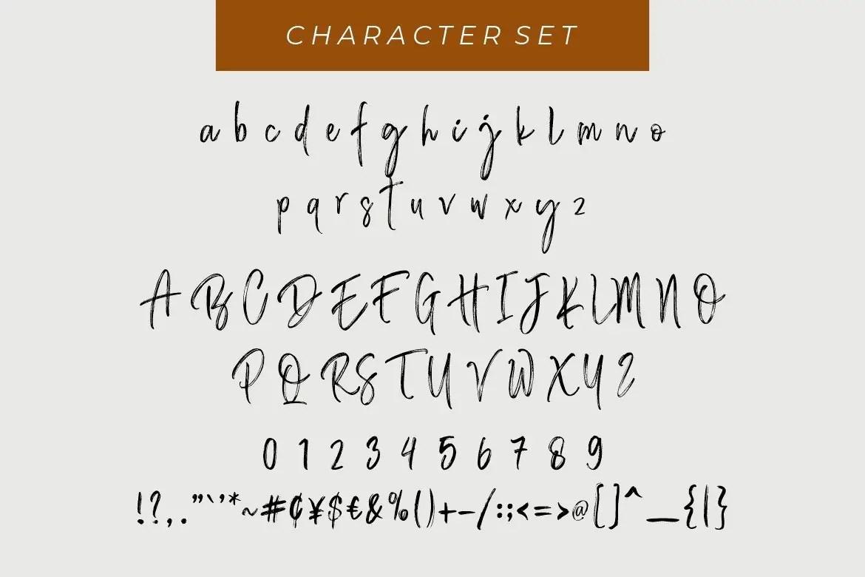 Bastian Sidney Brush Font -3