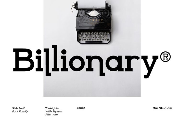 Billionary Slab Serif Font -1