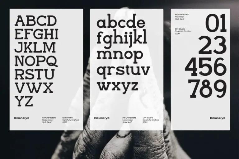 Billionary Slab Serif Font -3