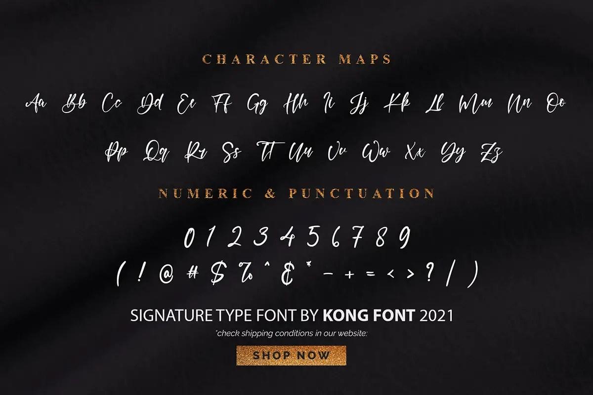 Black Gemstone Handwritten Font -3
