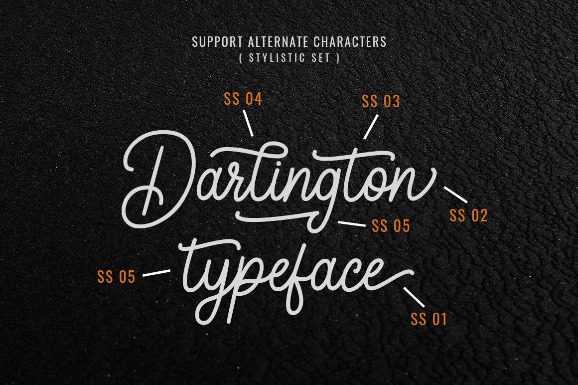 Darlington Script Vintage Font -3