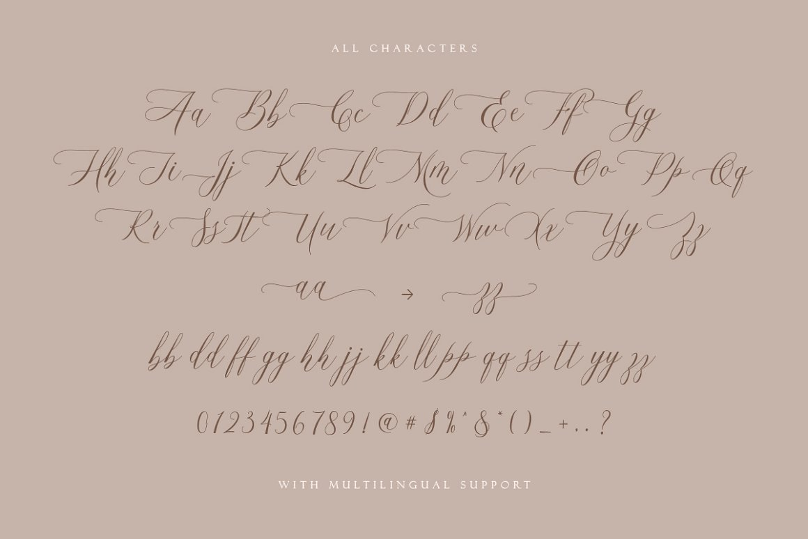 Hallmarks Beautiful Calligraphy Font -3