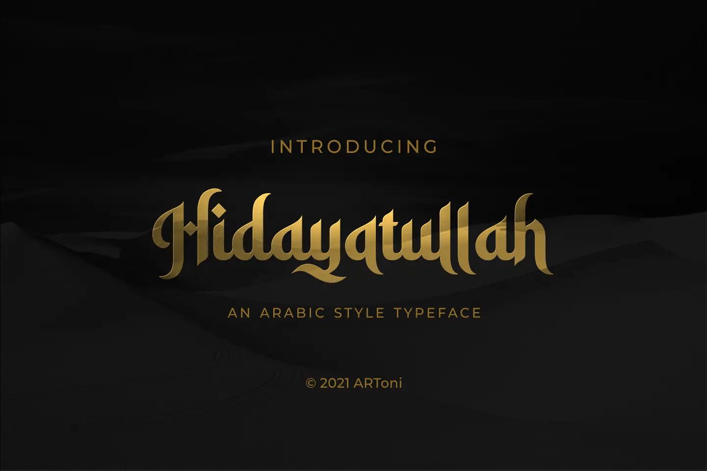 Hidayatullah Arabic Font -1