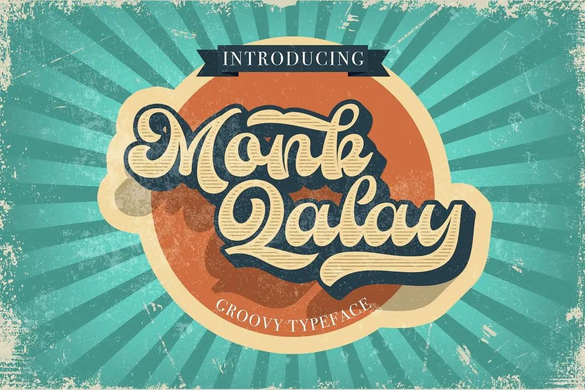 Monk Qalay Bold Script Font -1