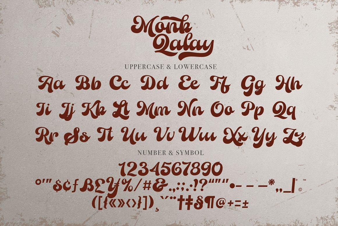 Monk Qalay Bold Script Font -3