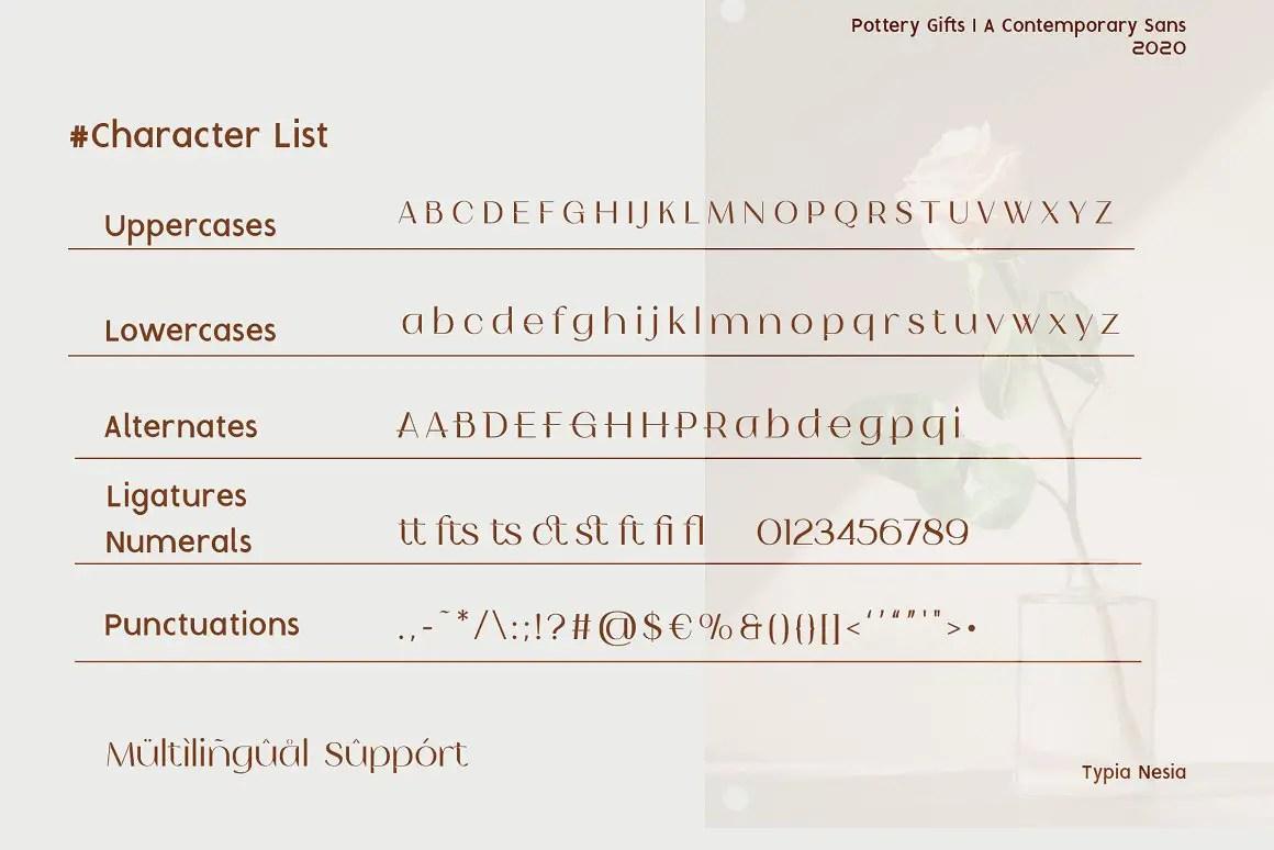 Pottery Gifts Modern Serif Font -3