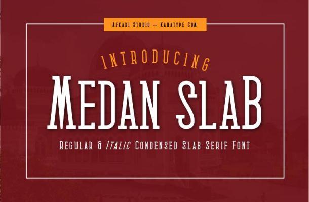 Medan Slab Font