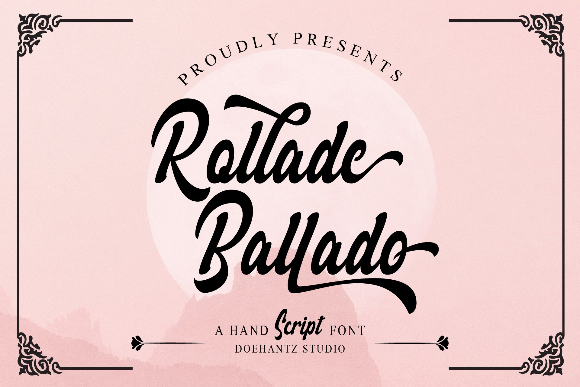 Rollade Ballado Bold Script Font -1