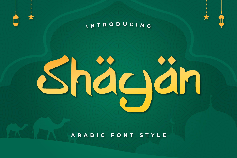 Shayan Arabic Font -1