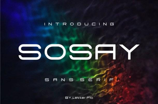 Sosay Font