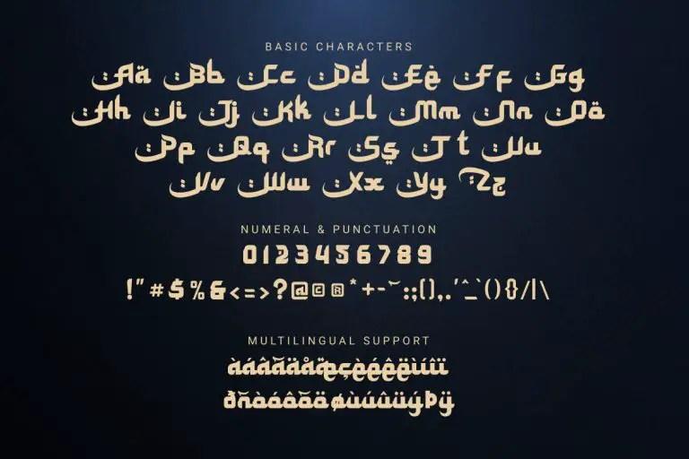 Special Ramadhan Display Font -3