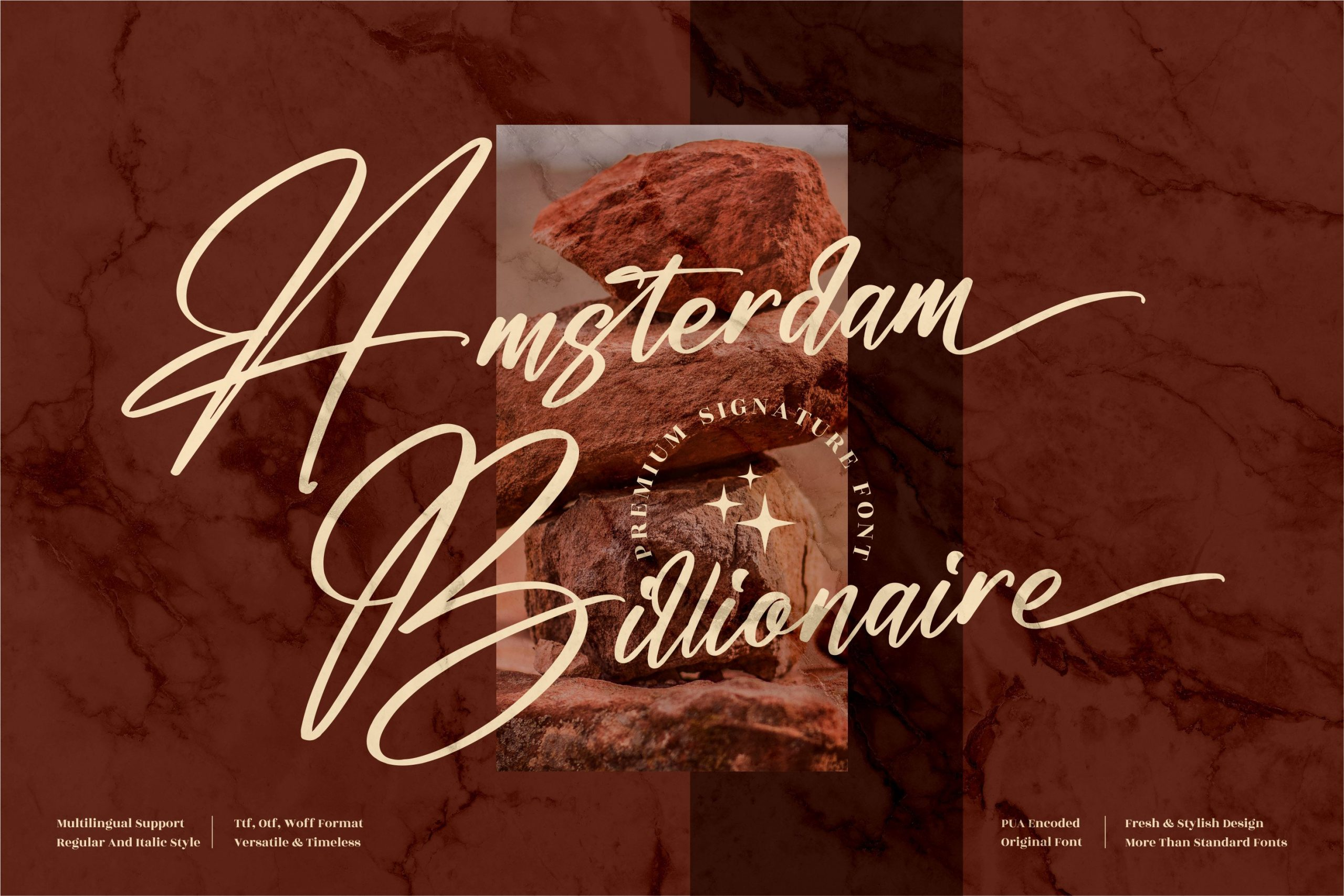 Amsterdam Billionaire Script Font -1