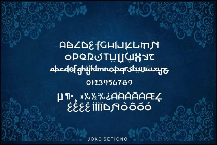 At Tupats Arabic Stalys Font -3