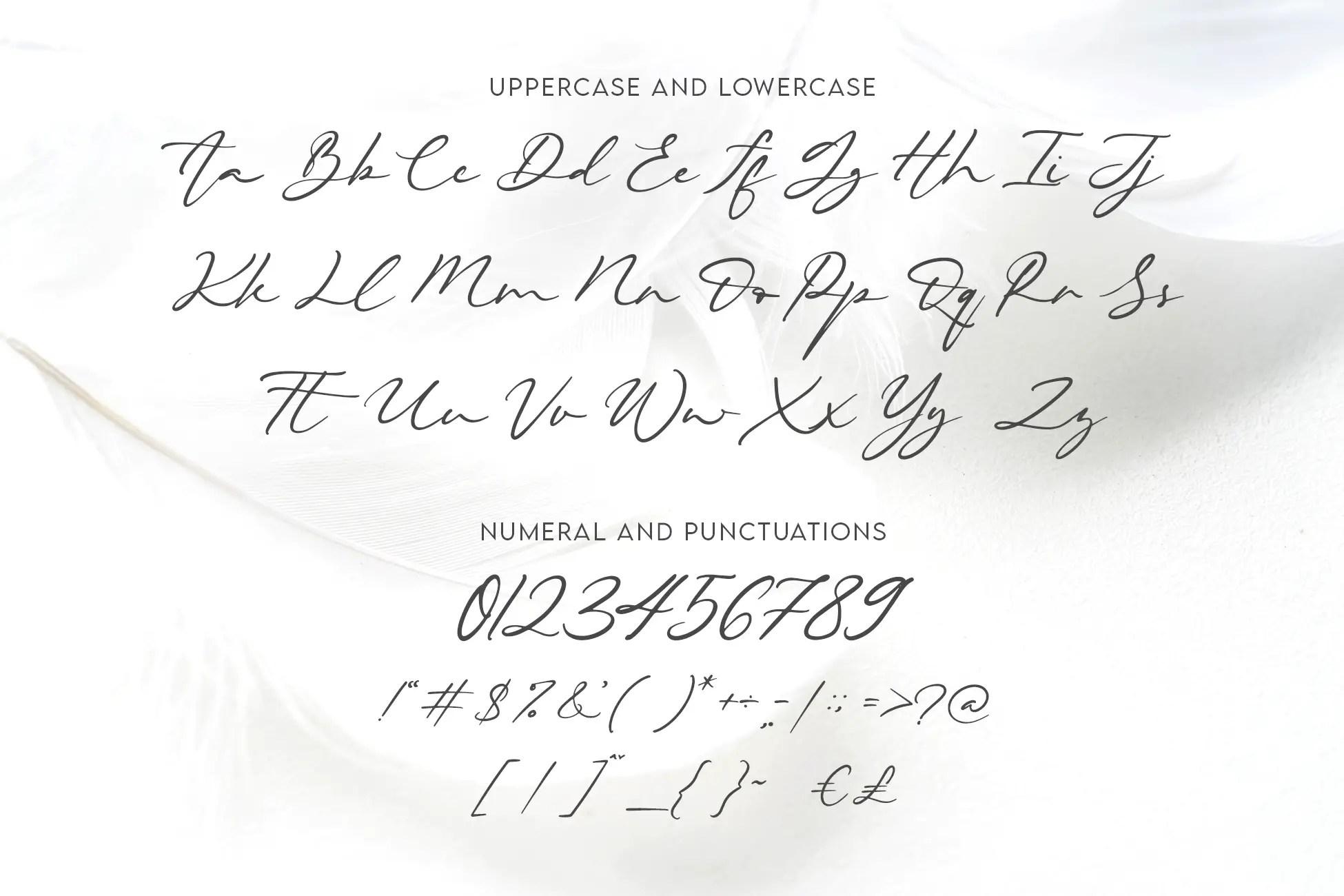 Beautiella Casual Signature Font -3