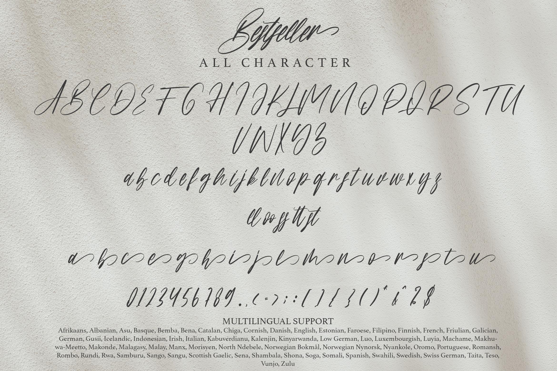 Bestseller Beautiful Calligraphy Font -3
