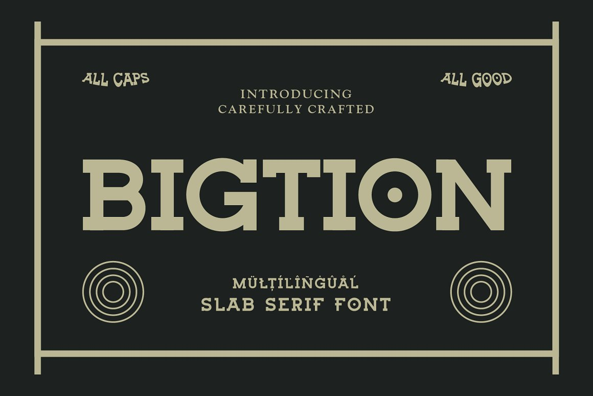 Bigtion Bold Slab Serif Font -1
