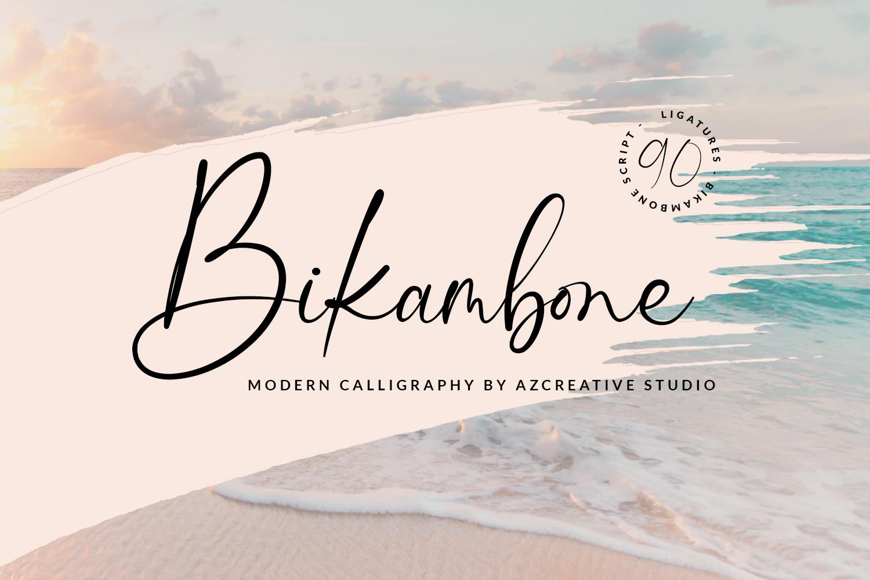 Bikambone Modern Calligraphy Font -1