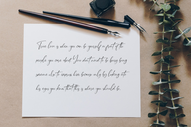 Bikambone Modern Calligraphy Font -2