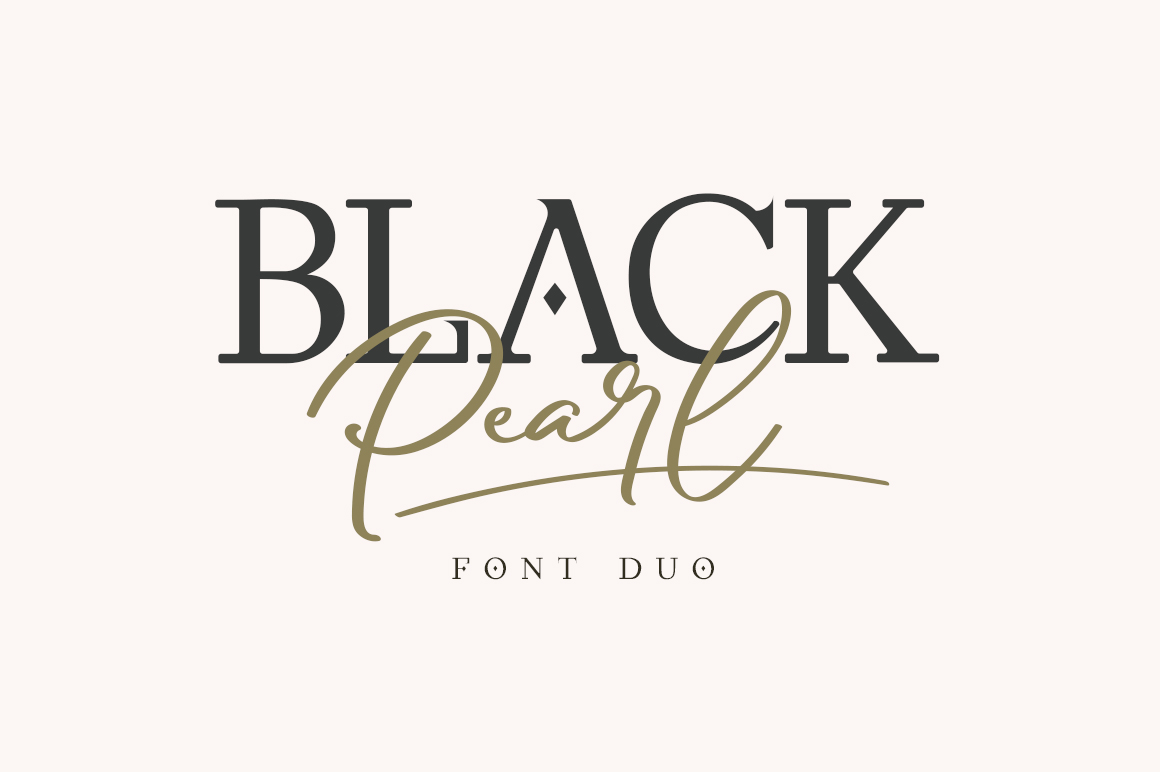 Black Pearl script serif Font Duo -1
