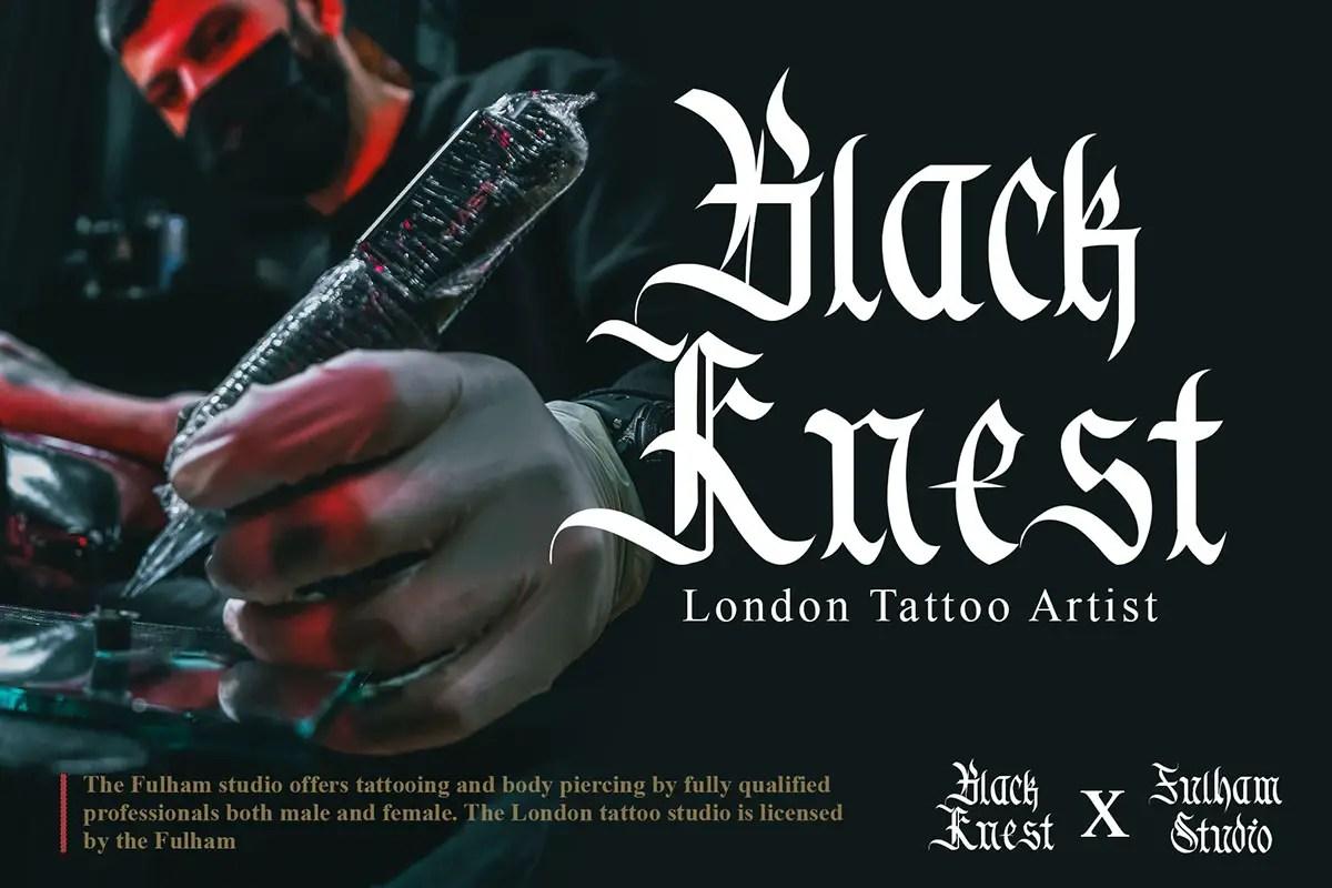 Black Smoke Blackletter Font -2
