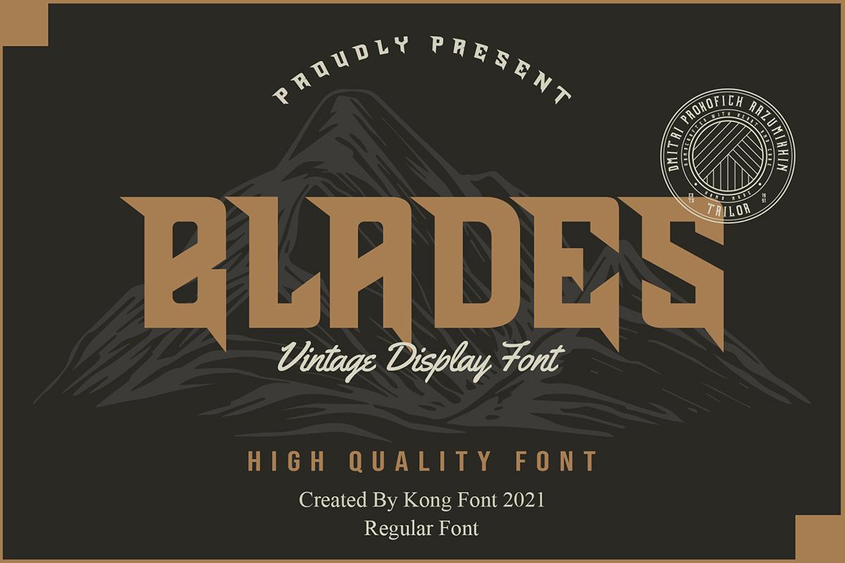Blades Display Font -1