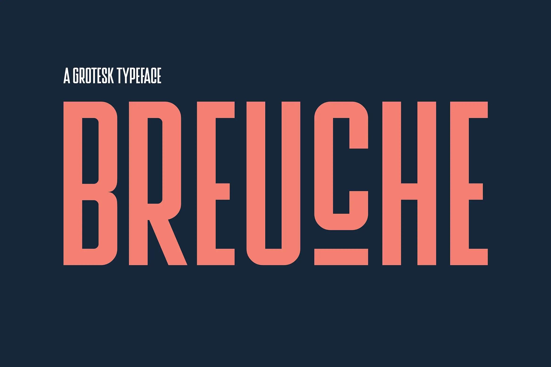 Breuche BoldSans Serif Font -1